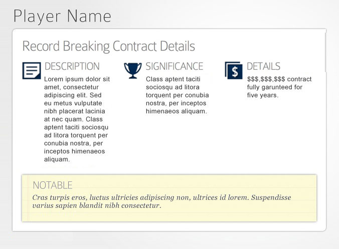 Moye Sports SkyBox - Contract Negotiation Details